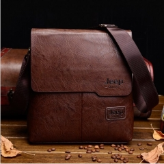 2017 New Men's Leather Single Shoulder Bag Cross-body Man Bag brown one size