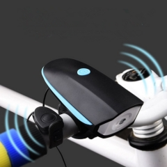 Night Riding Bicycle Mountain Bike Lighting USB Charging With Horn Function blue+black one size