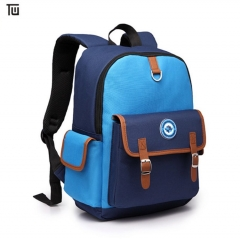 Men Male Canvas College Student School Backpack Casual Travel Bag blue one size