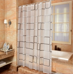 High Quality Waterproof Shower Curtain Bathroom Curtains As The Picture+12 hooks as picture W80*H180cm