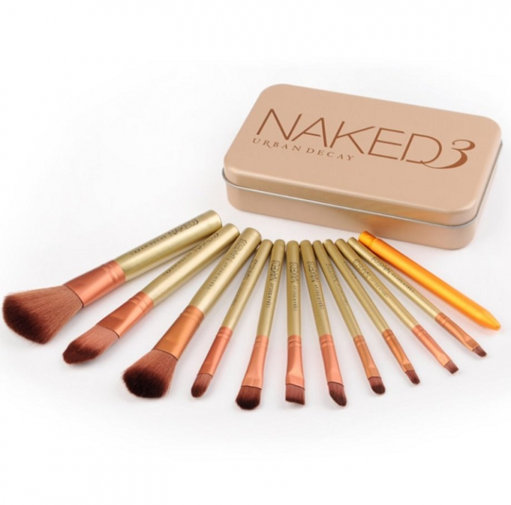 12 Pcs   Beauty And Cosmetic Brush Suit as the picture