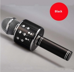 WS858 Wireless Bluetooth Karaoke Microphone Portable Speaker KTV MIC black 5w one size