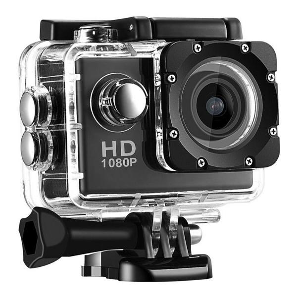 "2.0"" SJ4000 Waterproof Full HD 1080P DV Helmet Action Sports Camera Travel Kit black one size"