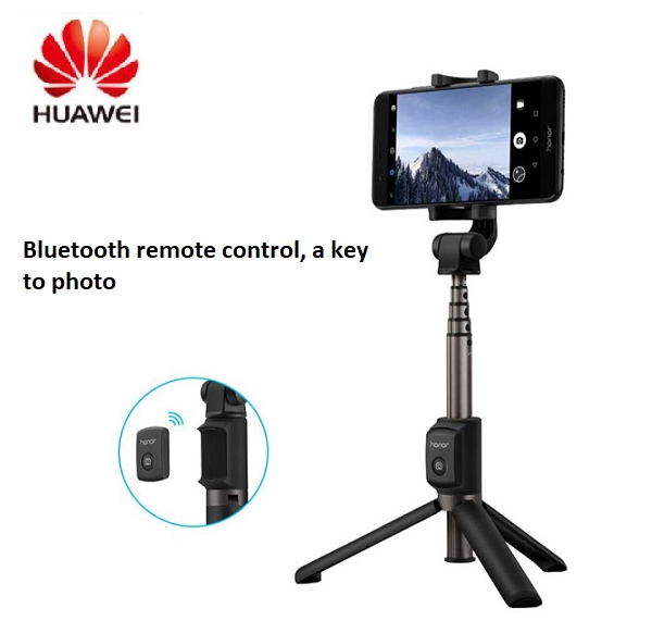 Huawei Honor Selfie Stick Tripod Bluetooth 3.0 Portable Monopod Extendable Handheld Tripod Holder black one size
