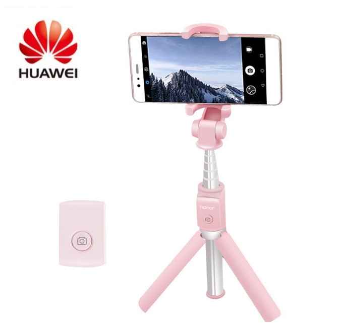 Huawei Honor Selfie Stick Tripod Bluetooth 3.0 Portable Monopod Extendable Handheld Tripod Holder pink one size