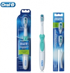 Oral B Dual Clean  Electric Toothbrush Deep Clean Teeth Whitening   With Two Brush Head as picture one size