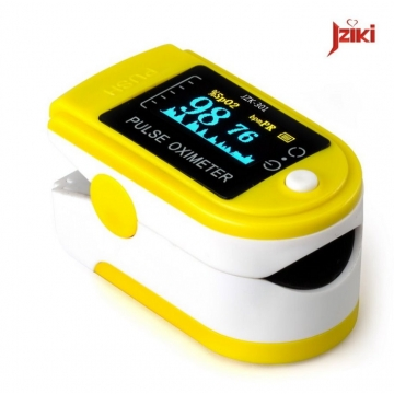 Finger Pulse Oximeter Finger Oxygen Meter With Pulse Rate Monitor yellow