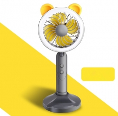 Multifunction Fan New USB Fan Mobile Phone Bracket Fill-in light For Home And Outdoor grey