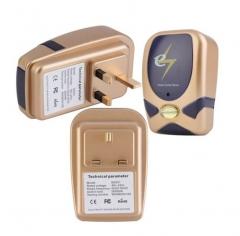 3 PCS High Efficiency Electricity Power Factor Saver Electricity Saving Case (Gold)