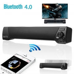 Sound Bar Bluetooth Wireless Speaker Home Theater Built-in Subwoofer AUX USB black 400*70*68mm