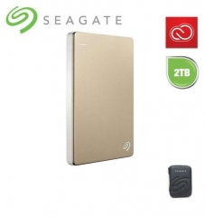 Seagate Backup Plus Slim  Portable Mobile  Drive Silver 2TB