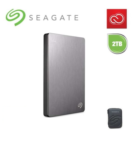 Seagate Backup Plus Slim  Portable Mobile  Drive Silver 2TB