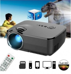 GP70 LCD Portable LED Projector 1080P Full HD 1200 Lumens HDMI USB FHD SD Home Theater Beamer black one size