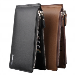 New men wallet Card Package  Leather Long Section Wallet Black 20*10*1.2cm