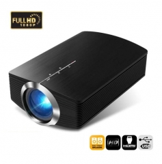 HD 1080P YG500 Portable Projector  High Brightness LED Mini Projector  Home Cinema Theater black one size