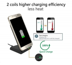 10W Fast Charge Wireless Charger Stand Type black one size