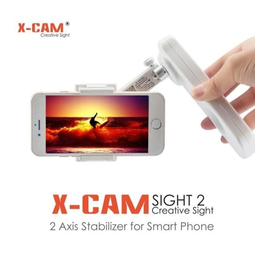 Original XCAM Handheld Folding Stabilizer for  Smartphone iPhone, Samsung Galaxy and More white one size