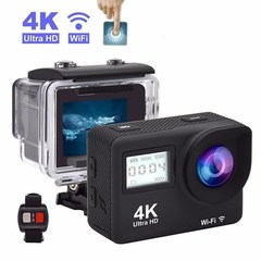 4K Full HD WiFi  1080P Double Screens Touch Screen Sport Camera Action Camcorder black one size