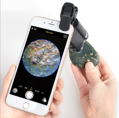Universal Mobile Phone Microscope Macro Lens 60X-100X Optical Zoom Magnifier Micro Camera black one size