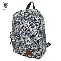 Casual Printed Student Travelling Camping Climbing Canvas Backpack BLUE 29.00 x 13.00 x 42.00 cm