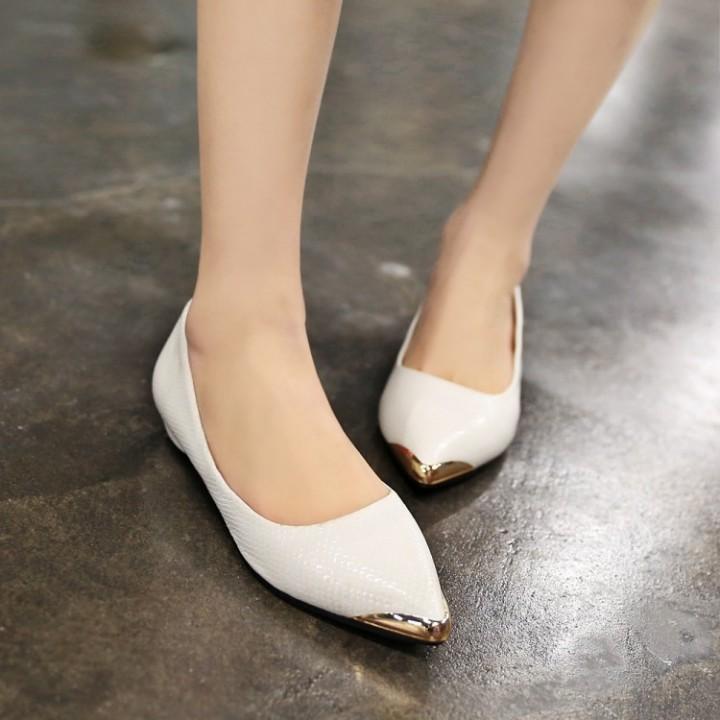 cf9ee5767b808 Pointed Toe Snake Pattern Women Flats Shoes Black US 4