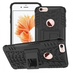 Armor case For iphone 6 / 6s Silicone & Plastic Shockproof protector with kickstand black iphone 6 / 6s
