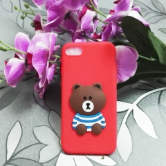 Cartoon teddy bear phone case for Apple iphone 5 5s 6 6s 7 8 plus X silicone shockproof protector red iphone 6 / 6s