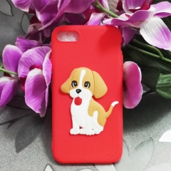 Cartoon pet dog phone case for Apple iphone 5 5s 6 6s 7 8 plus X silicone shockproof protector red iphone 6 / 6s