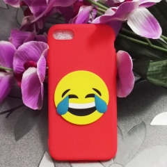 Cartoon Funny expression phone case for Apple iphone 5 5s 6 6s 7 8 plus X silicone shockproof red iphone 6 / 6s