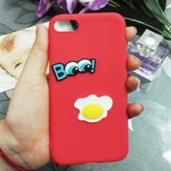 Cartoon Poached eggs phone case for Apple iphone 5 5s 6 6s 7 8 plus X silicone shockproof protector red iphone 6 / 6s