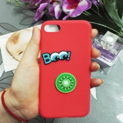 Cartoon Kiwi fruit phone case for Apple iphone 5 5s 6 6s 7 8 plus X silicone shockproof protector red iphone 6 / 6s