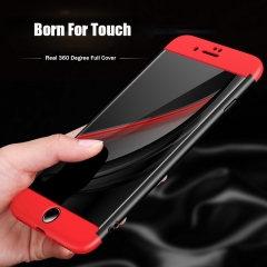 Cover For iPhone 7 7 Plus Bag Case 360 Degree Full Protective Shockproof Case For iPhone 7 Plus Case Red and Black For iPhone 7