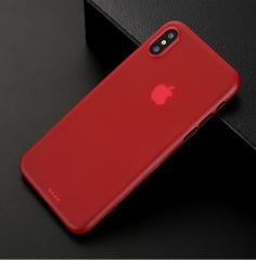 100 pcs wholesale For iPhone X Super Thin Clear Micro Matte Protective Back Armor For iPhone X Cases red For iPhone x