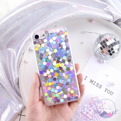 Coque For iPhone 8 8 Plus 7 7 Plus 6 6S Plus Case Korean Bling Paillette Glitter Sequins Girly Cover Colorful for iphone 6 6s