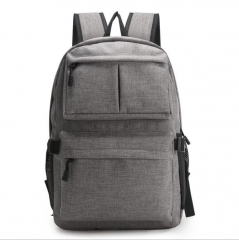 Laptop Backpack, School Backpack with USB Charging Port, Lightweight Casual Travel Bag For Men Women Gray 45*30*11CM
