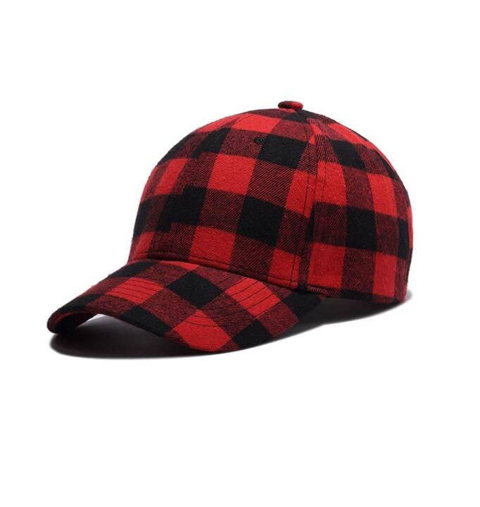 25296af9508 Red and Black Plaid Baseball Caps Dad Hats for Men Hip Hop Cap Sun Hat for  Women Bone Gorras RedBlack one size  Product No  1252949. Item specifics   Brand