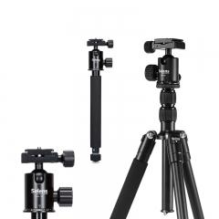 Selens Tripod Aluminum Alloy T-170 Portable Travel Tripod Monopod With Ballhead for DSLR Camera black one size