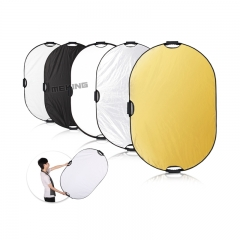 Selens Reflector Photography 5 In1 Light Mulit Collapsible Portable Photo Oval 80x120cm as picture one size