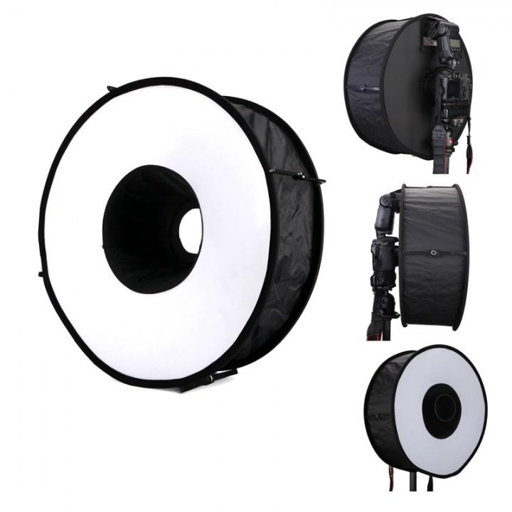 Diffuser 45cm Camera Photo Flashgun Ring Flash Round Flash Diffuser Softbox as picture one size