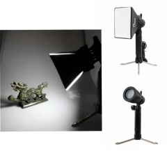 Portable Mini Photo Studio LED Light 5500K Lamp with Tripod Stand + Softbox Kit Orange light EU Plug