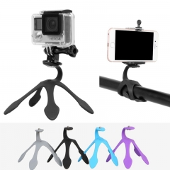 Gekko Pod Mini Flex Mount Tripod Support Holder For Smartphone Gopro Hero Camera black one size