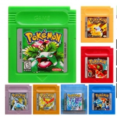 GameBoy Color Pokemon Games Cards For Nintendo GB/GBC/GBA Xmas Gifts 7 Version 7 color