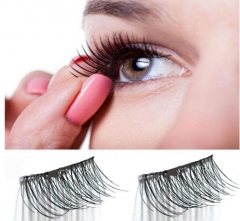 3D Magnetic False Eyelashes No Glue Thinner Magnet Eye Lashes Extension Handmade as pic