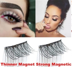 3D Magnetic False Eyelashes No Glue Thinner Magnet Eye Lashes Extension Handmade 1 pair
