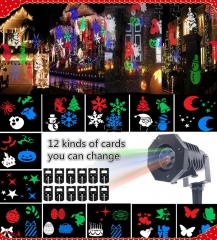Outdoor LED Moving Laser Projector Light Landscape Garden Xmas Halloween Party As picture 18 6W