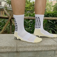 Pro Trusox Tocksox Style Anti Slip Cotton  Football Soccer Team Sports Socks High Quality one size white