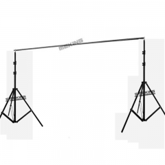 2PCS LIght Stand Tripod & Crossbar Background Support Stand Photo Backdrop for Photography as picture one size