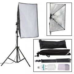 150W Photography Studio Softbox Continuous Lighting + 2m Light Stand + Bulb Kit as picture
