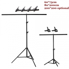 Background Photography backdrop background Aluminum Tripod stant holder with Cross Bar with Clip as picture 60*75cm