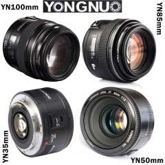 Yongnuo YN 35mm 50mm 85mm 100mm EF AF / MF Prime Fixed Lens for Canon EOS Camera as picture yn35mm f2